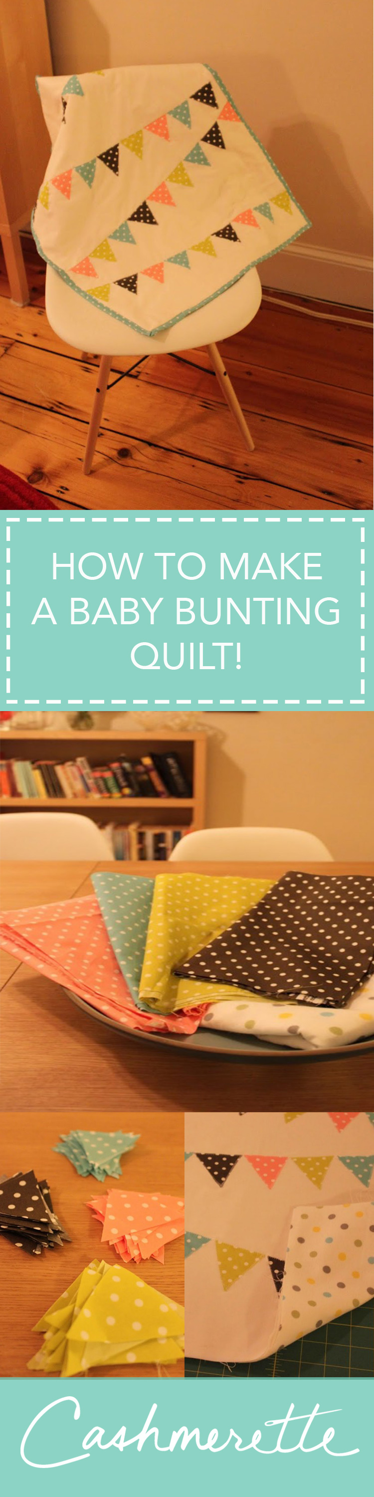 How to make an easy baby bunting applique quilt
