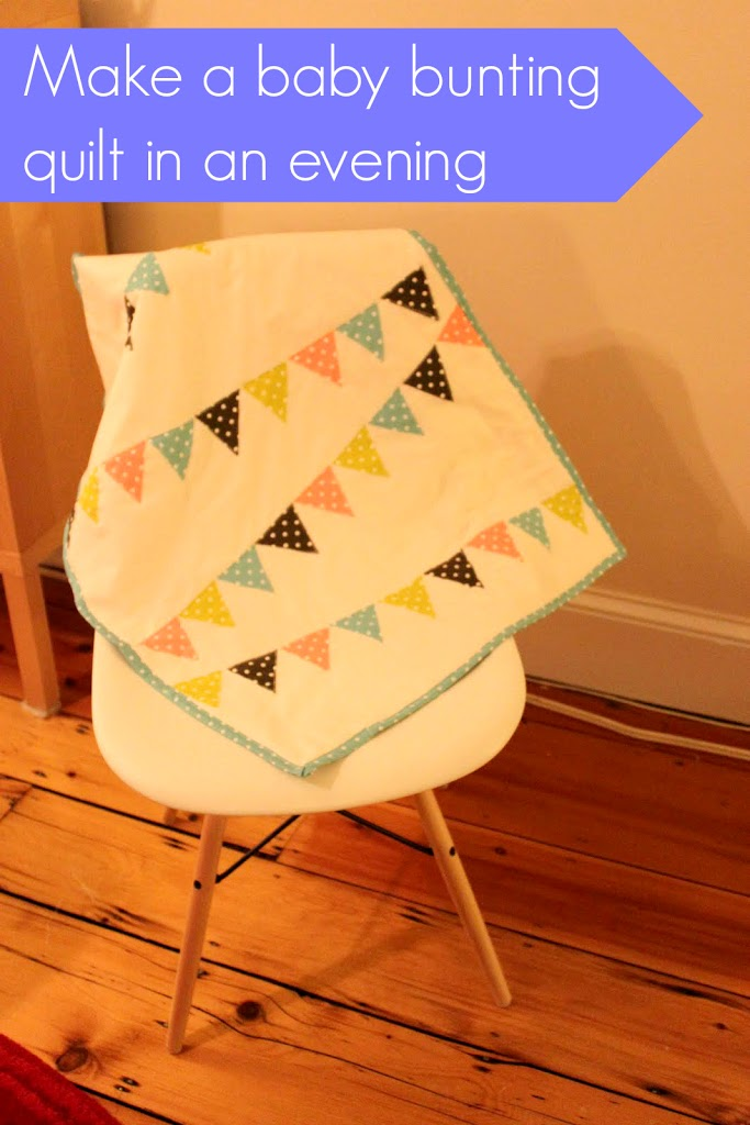 Make a baby bunting quilt in an evening!