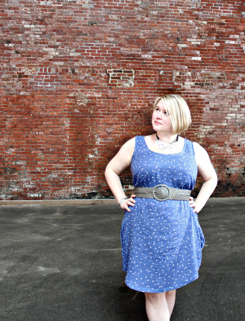 How to do a full bust adjustment and add a dart on the Sew Caroline Tank Dress