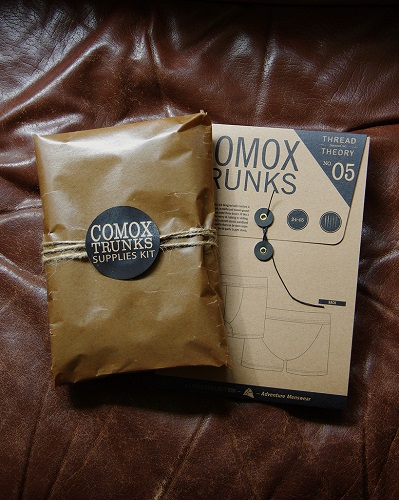 Comox Trunks Supplies Kit from Sewing Indie Month designer Thread Theory