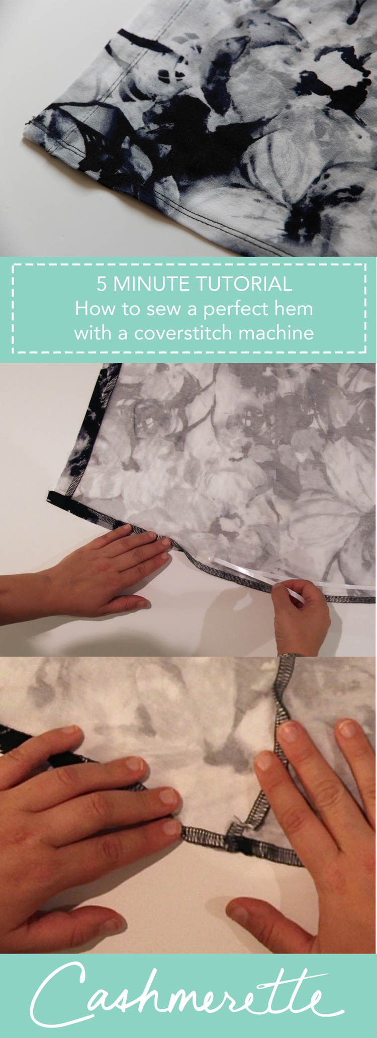 How to sew a perfect hem with a coverstitch machine