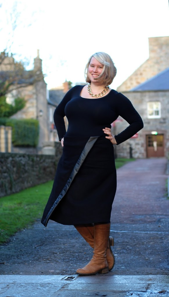 HotPatterns 1176 Metropolitan Rothko Faux-wrap Skirt