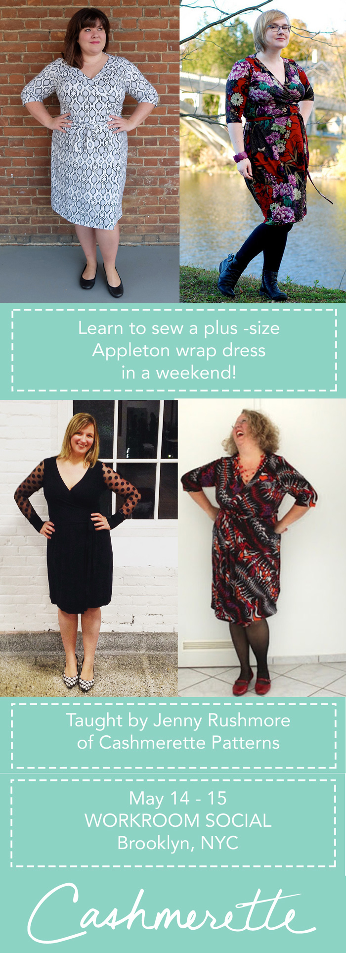 Learn to sew a wrap dress with Cashmerette in NYC