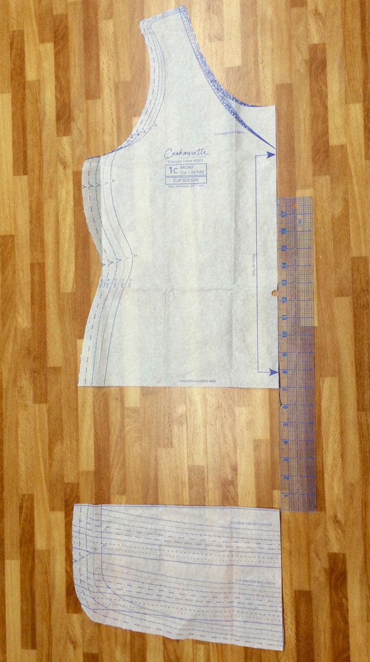 Cashmerette Concord T-Shirt Dress Hack