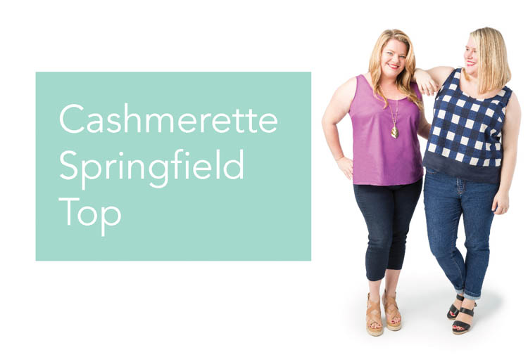 Cashmerette Springfield Top, in sizes 12 - 28 and cups C - H