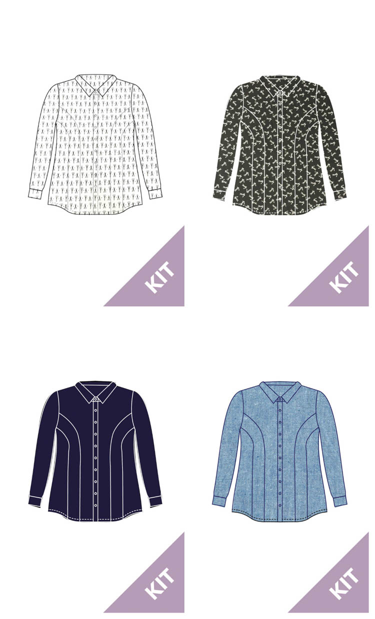 Cashmerette Harrison Shirt Kit