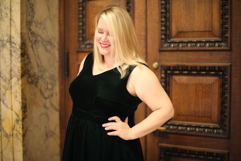 Velvet Upton Dress
