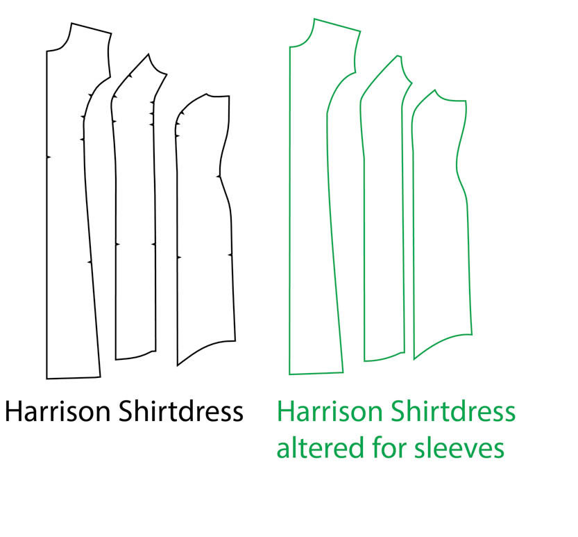 Add Sleeves to the Harrison Shirtdress