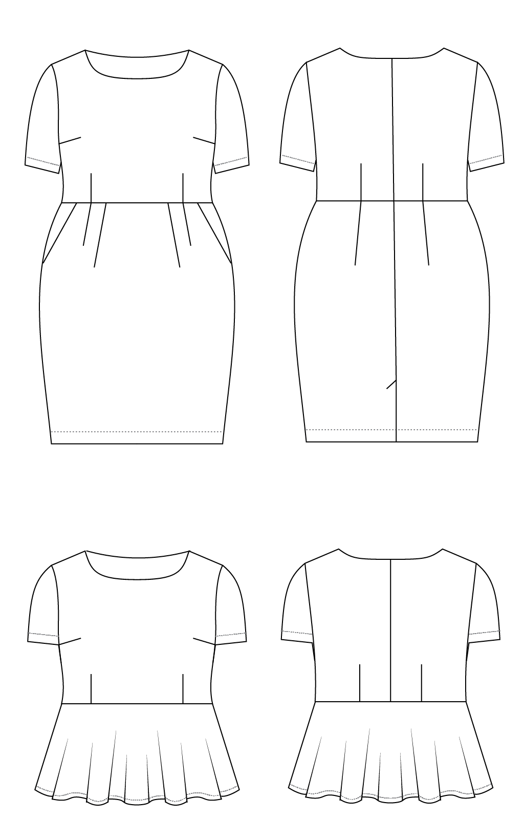 dress & top sewing pattern