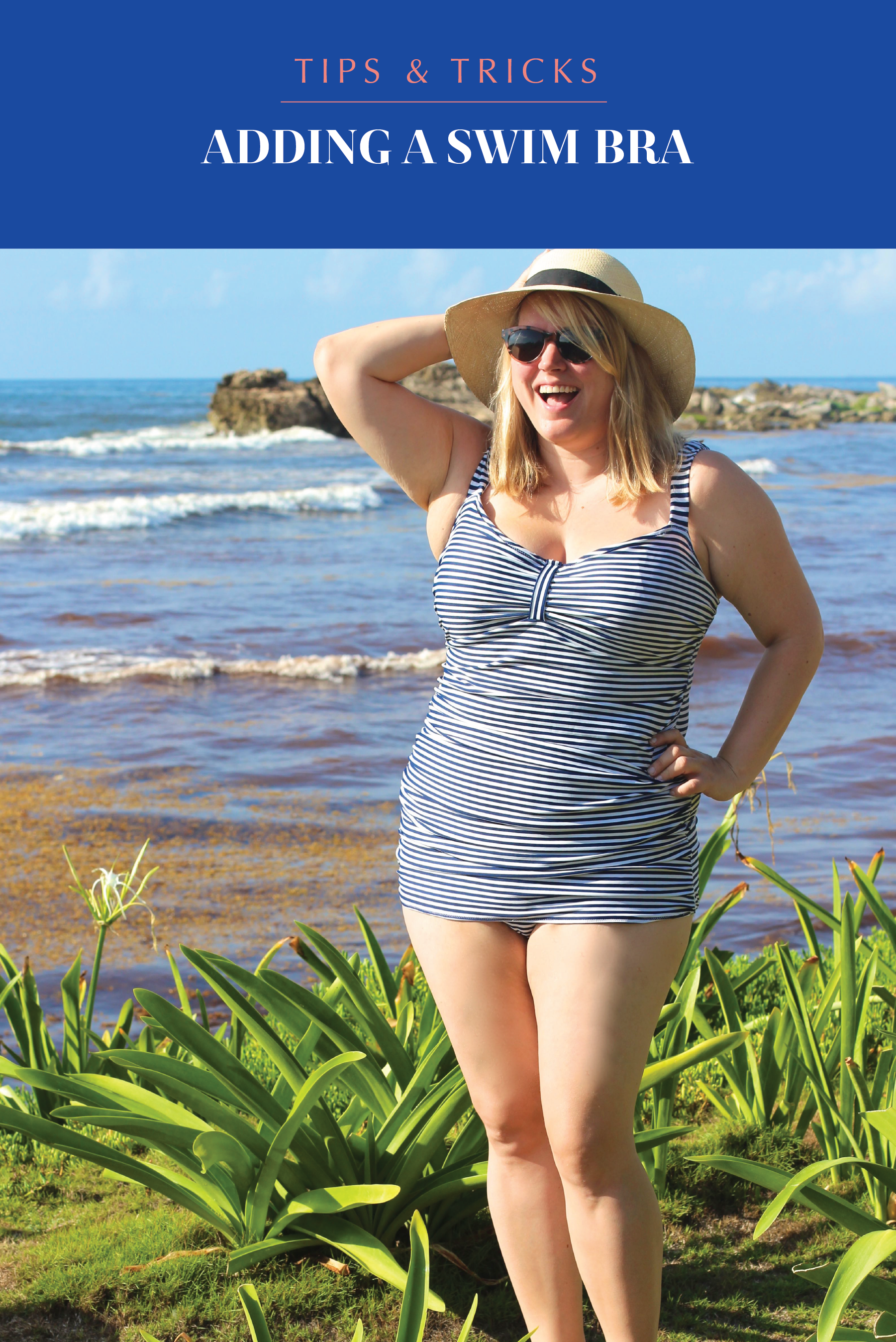 09db33cdd0e Want to sew your own swimsuit but need a bit more support than a layer of  spandex? Then never fear, because it's super easy to put a pre-made swim bra  ...