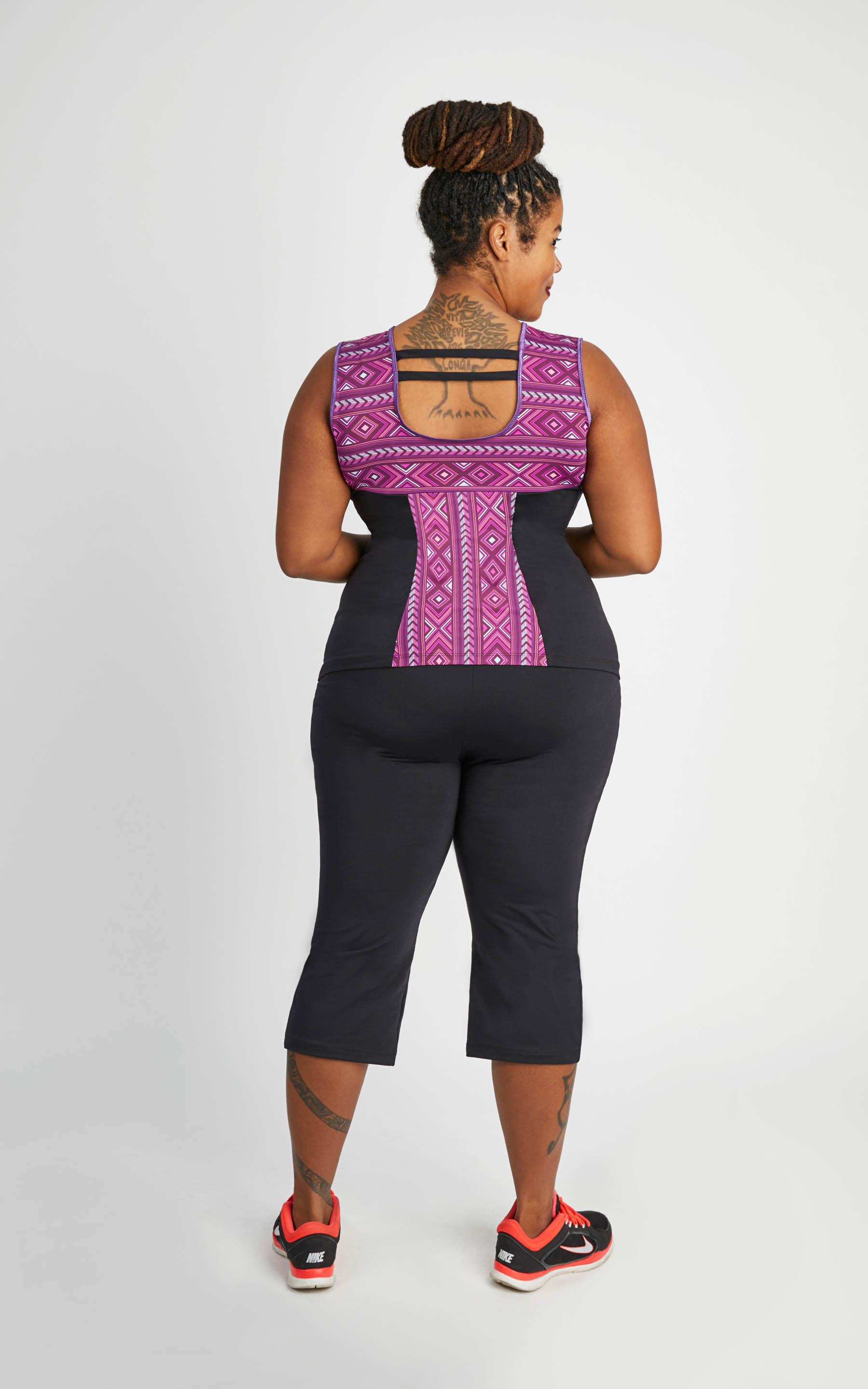 Cashmerette Cedar Workout Top plus size activewear sewing pattern
