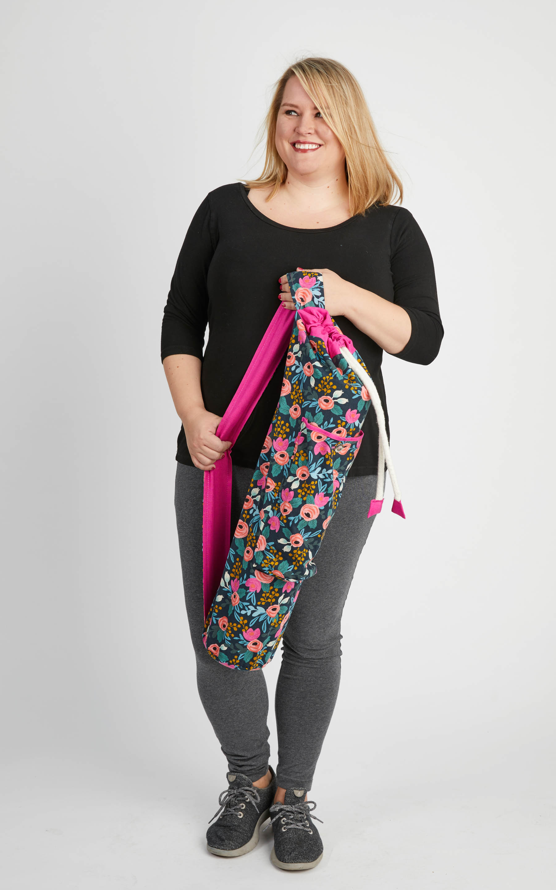 Cashmerette Shawmut Bag plus size activewear sewing pattern