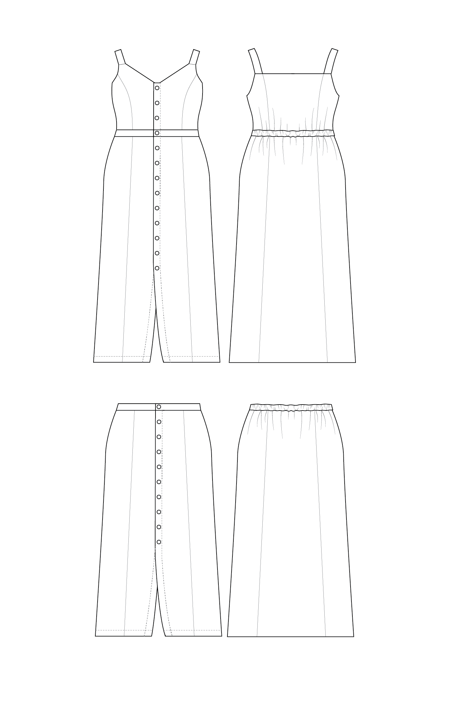 Cashmerette Holyoke Maxi Dress and Skirt sewing pattern