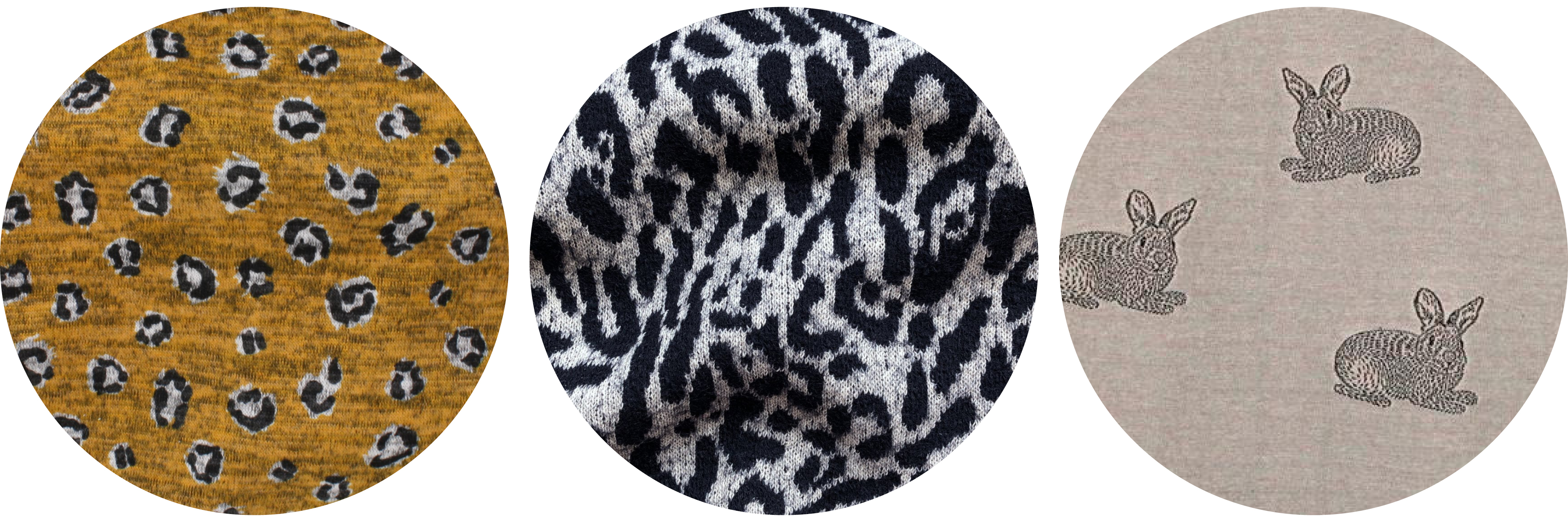 Tobin Sweater knit fabric ideas: animal prints
