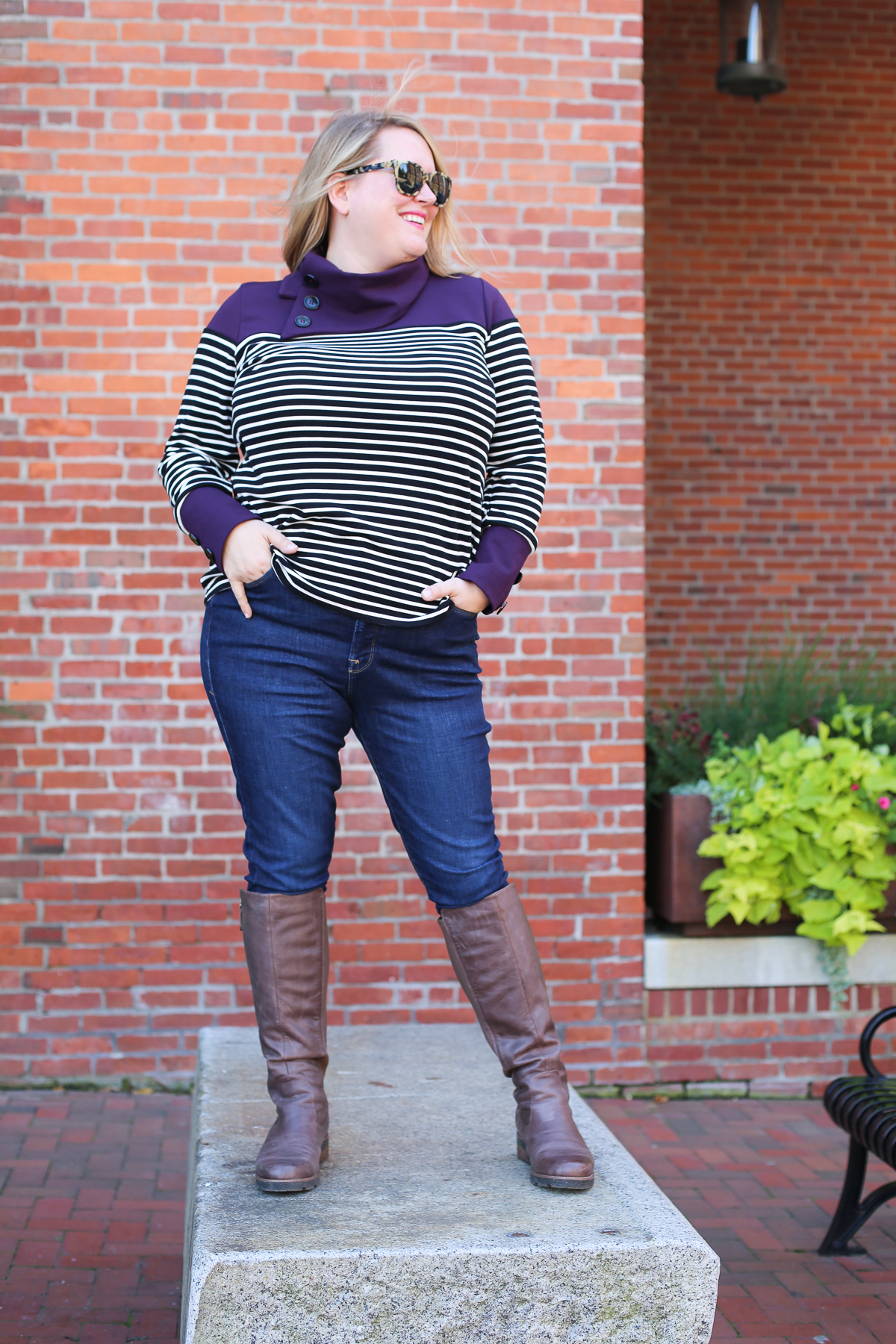 how to sew a split funnel neck sweater