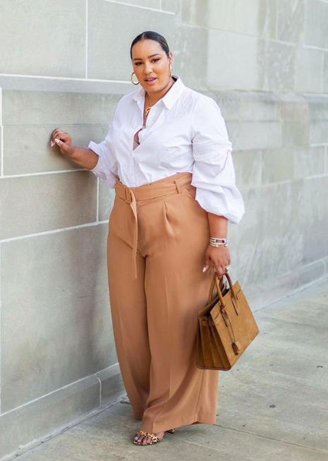 fall fashion trends for curves: wide leg pants