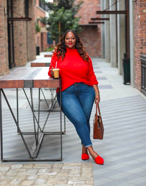 fall fashion trends for curves: oversized sweaters