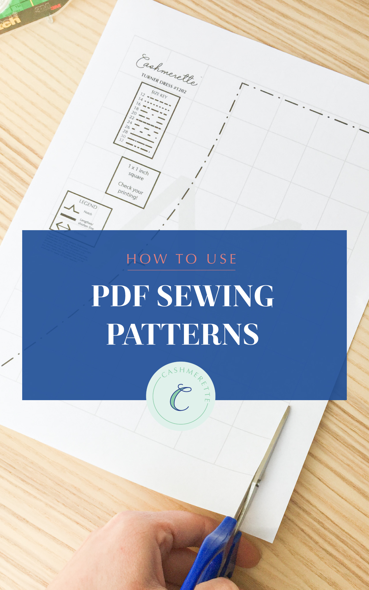 how to use PDF sewing patterns