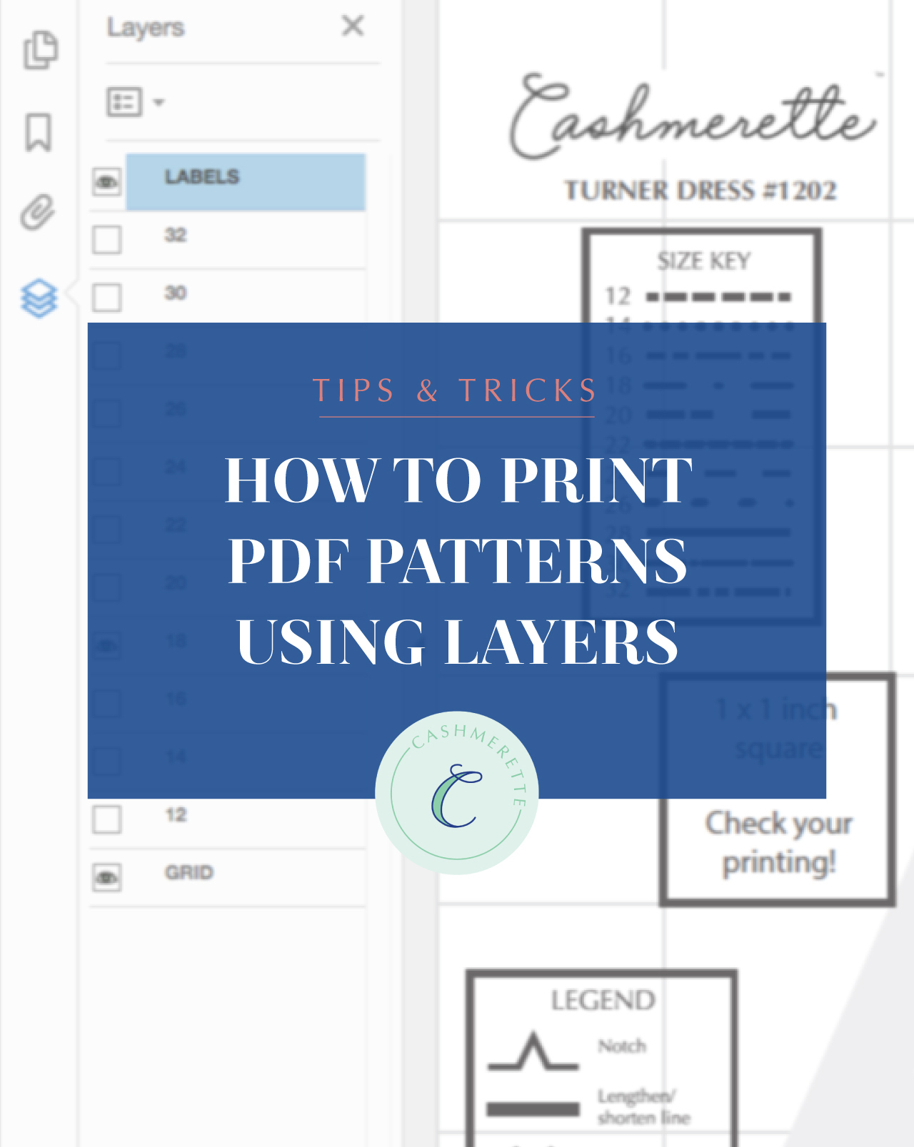 how to print patterns using layers
