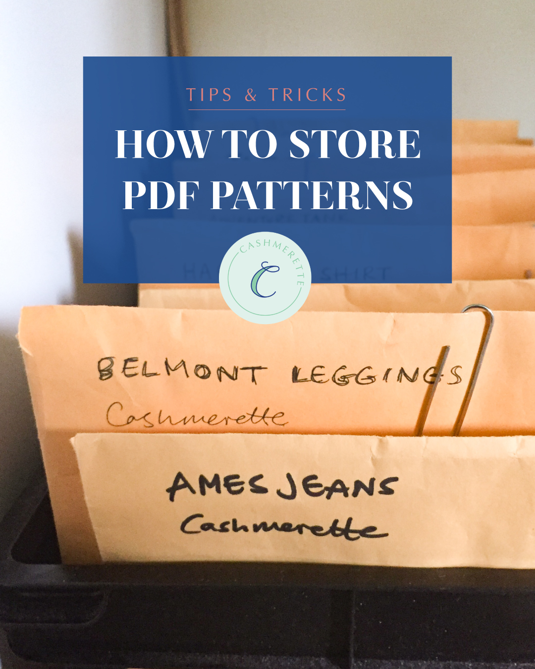 how to store pdf patterns