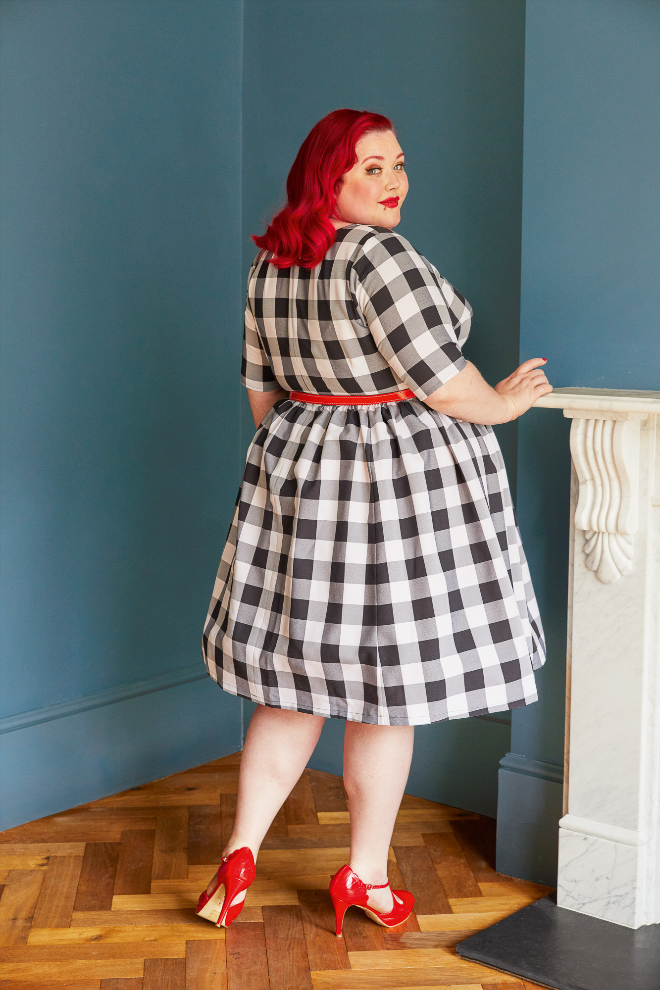 """Cashmerette Honeybourne Dress from the book """"Ahead of the Curve"""""""